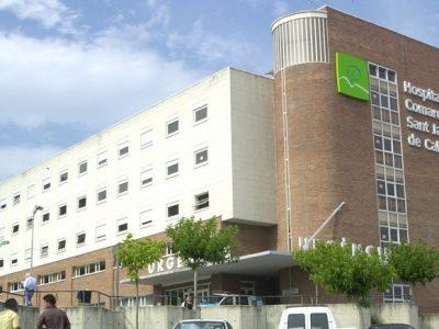 Calella, foto de la façana de l'Hospital Comarcal Sant Jaume de Calella.